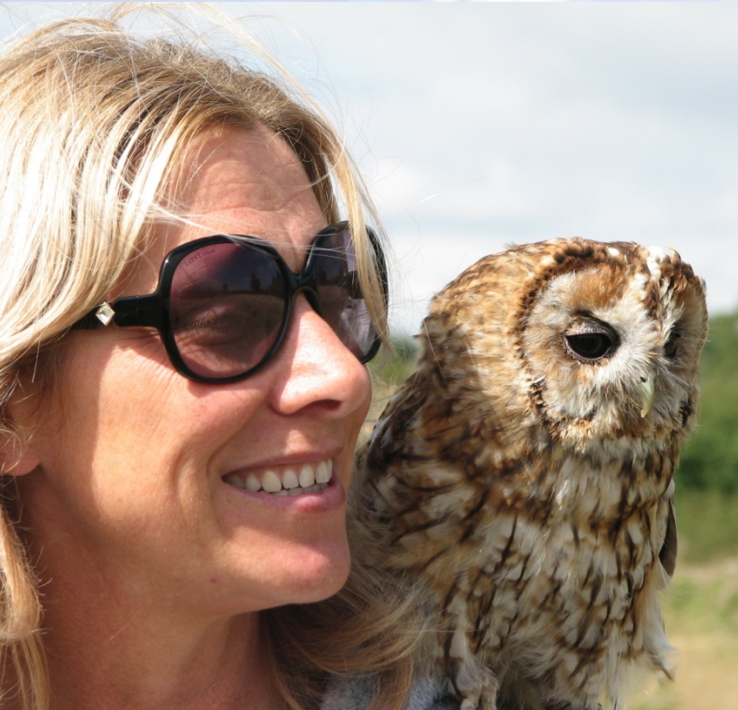 Hen Party Owl giving cuddles